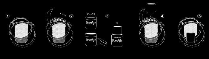PowAir Air Filter Directions